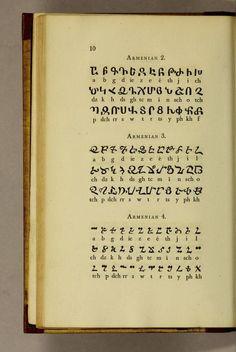 """Pantographia"" by Edmund Fry—Armenian alphabets"