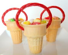 Jelly Bean Easter Cone Basket - such a cute and simple #Spring or #Easter #Craft!