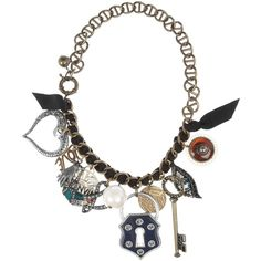 Lanvin Oversized Swarovski crystal charm necklace ($845) ❤ liked on Polyvore featuring jewelry, necklaces, accessories, bracelets, collares, swarovski crystal charms, multi colored necklace, colorful jewelry, multicolor jewelry and multi color necklace