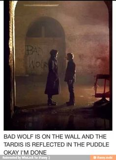 """Sherlock, what are we doing down here? We have a case to solve."" my first thought was why is bad wolf written behind sherlock and john? <--- Rose left herself a note to find the doctor! Fandoms Unite, Sherlock Holmes, Sherlock John, Moriarty, Superwholock, Tardis, Detective, Supernatural, Mrs Hudson"