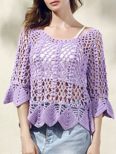 Solid Color Cut Out Round Neck Butterfly Sleeve Sweater
