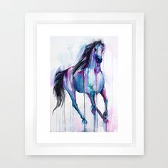 Magical Horse watercolor painting print animal by SlaviART on Etsy
