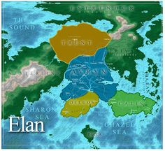 Elan (Riyria Revelations) Maps - by Michael J. Sullivan