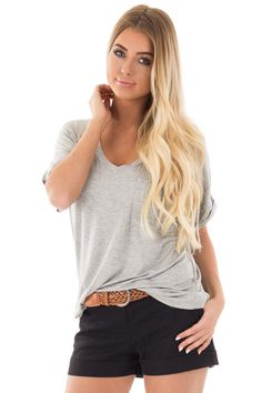 Lime Lush Boutique - Heather Grey V Neck Pocket Tee, $29.99 (https://www.limelush.com/heather-grey-v-neck-pocket-tee/)#fashion#spring#happy#photooftheday#followme#follow#cute#tagforlikes#beautiful#girl#like#selfie#picoftheday#summer#fun#smile#friends#like4like#pinterestfollowers