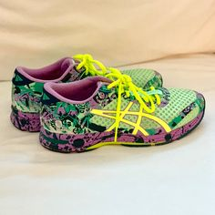 on sale c02c3 a5d8b Asics Shoes   Like New Asics Gel Noosa Tri Ii Running Shoes   Color   Green Purple   Size  7.5