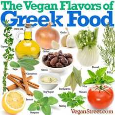Vegan Street: Why are there so many delicious vegan foods from Greece? Here are a few of the reasons. Vegan Foods, Vegan Dishes, Vegan Vegetarian, Vegetarian Recipes, Vegan Meals, Greek Recipes, Raw Food Recipes, Healthy Recipes, Eat Healthy