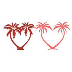 Heart Palm Tree Cuttable Files - Available for FREE today only, Feb 1. Includes SVG, JPEG, PDF, EPS, and DXF formats.