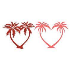 Ideas For Palm Tree Tattoo Ideas Silhouette Tree Silhouette Tattoo, Palm Tree Silhouette, Small Palm Trees, Small Palms, Tree Heart Tattoo, Tattoo Tree, Palm Tree Tattoos, Heart Tree, Compass Tattoo