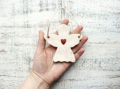 Angel ornament heart ornament Scandi Christmas by HandyHappyShop