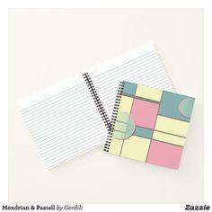 Mondrian & Pastell Notizbuch Piet Mondrian, Notebook, Constructivism, Graphics, Pastel, The Notebook, Exercise Book, Notebooks