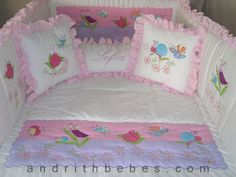 Cot Sets, Baby Boy Dress, Baby Embroidery, Baby Crib Bedding, Applique Quilts, Vintage Design, Baby Sewing, Bed Spreads, Baby Quilts