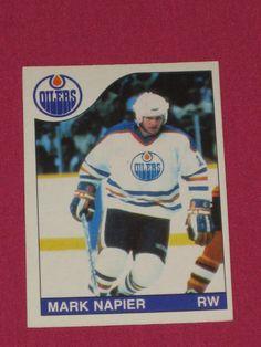 1985-86 #253 Mark Napier, O-Pee-Chee OPC, Edmonton Oilers NHL Hockey Card | eBay
