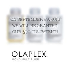 Whooo!! Another Olaplex Patent coming... September 29th, 2015!!!