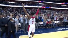 New party member! Tags: basketball nba celebration wall clutch hell yeah hands up washington wizards wizards john wall game winner