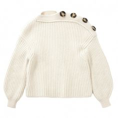 Wool jumper ACNE STUDIOS (7.859.030 IDR) ❤ liked on Polyvore featuring tops, sweaters, woolen sweater, white sweater, jumper top, wool jumpers and white jumper