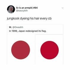 This is so true like Kookie does all the fucking shades of brown like jungkook's hair is the 50 shades of brown or something lmao he always dyes his hair natural like