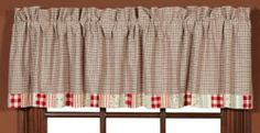 Summer's Edge Patchwork Valance - heart a deal canada Cottage Windows, Window Cornices, Kitchen Window Treatments, Beach Cottage Decor, Patchwork Patterns, Discount Rugs, Beach Cottages, Valance Curtains, Home Kitchens