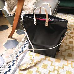 Ruime tas met rits zwart