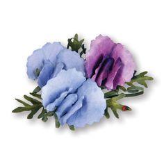 659665  Sizzix Thinlits Die Set 6PK - Flower, Sweet Pea