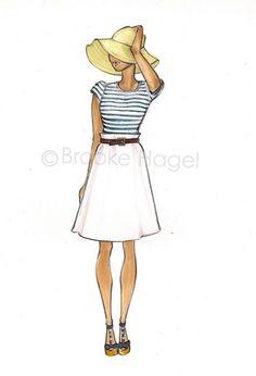 fashion illustration - I Love Brooke Hagel's illustrations!