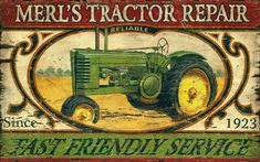 vintage tractor sign, it's a deere!