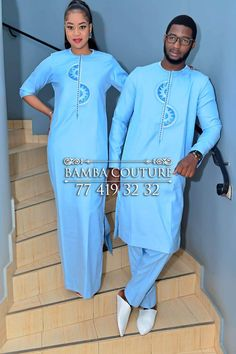 Image may contain: 2 people, people standing African Wear Styles For Men, African Shirts For Men, African Attire For Men, African Clothing For Men, African Bridesmaid Dresses, Latest African Fashion Dresses, African Dresses For Women, African Print Fashion, Nigerian Outfits