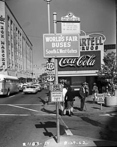 1962 Seattle World's Fair signage and Bartell Drugs in the background via @Evonne Benedict