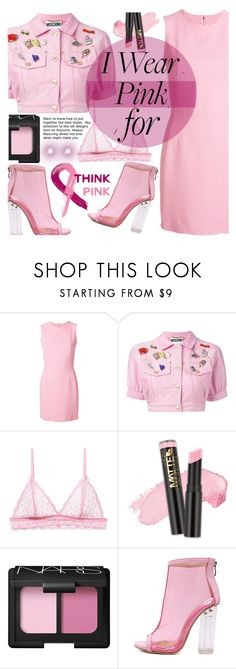 """Think Pink"" by nendeayesika ❤ liked on Polyvore featuring Dolce&Gabbana, Moschino, Cosabella, L.A. Girl, NARS Cosmetics and WithChic"