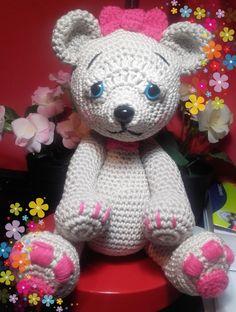 Cute bear de Cintia Manzano creaciones, ganchigumis@hotmail.com