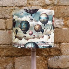 Up in the Air Vintage Balloons Drum Light Shade, fabulous designs www.serendipityhomeinteriors.com