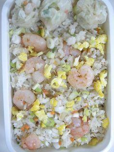 Shrimp fried rice     Homemade shrimp dumpling 20120629 Lunch