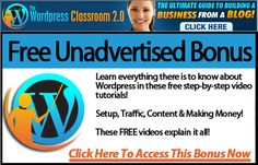 The Wordpress Classroom - Special Free Video Series ($ 197 value) http://apsense.cc/6086f4 Learn The Secrets Of Wordpress. Fire your coder, save time and make boatloads of cash learning the secrets of wordpress yourself! Creating Profitable Niche Blogs; Taking Your Offline Business Online; #free #wordpress #plugins #video #series