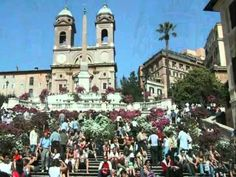 Spanish strairs in May. Rome, Dolores Park, Street View, Youtube, Italy, Rum, Rome Italy