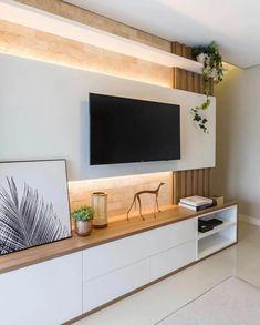 Tv Unit Furniture Design, Tv Unit Interior Design, Interior Design Living Room, Living Room Wall Units, Living Room Tv Unit Designs, Home Living Room, Living Room Partition Design, Tv Wall Design, Modern Tv Unit Designs