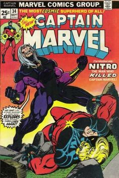 Captain Marvel 34 - Jim Starlin, lying defeated, surging, pumped up and ready to explode!