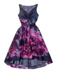 Lela Rose Blue/purple Multi Cotton/silk Blend Dress $63, from tradesy -great buy! Elle @  http://mydailycostume.com/