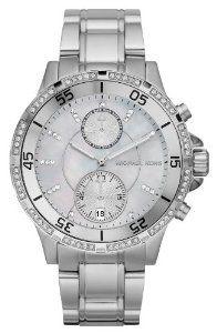 17cbad8de Michael Kors Womens Garett Stainless Steel Chronograph Watch MK5567 Crystals