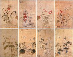 (Korea)  Painting album by Lady Shin Saimdang . 41.0×25.7cm. Gansong gallery, Korea. 사임당화첩.
