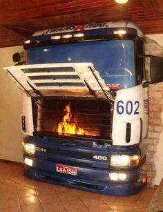 inspired Home Decor Cool Fireplace, Want this in my house. Great use for car parts. Cool Fireplace, Want this in my house. Great use for car parts. Car Part Furniture, Automotive Furniture, Automotive Group, Automotive Art, Automotive Industry, Unique Furniture, Furniture Stores, Man Cave Accessories, Ultimate Man Cave