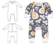 Brindille & Twig pattern: baby snaps one-piece : 068