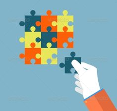 Buy Businessman Assembling Jigsaw Puzzle by robuart on GraphicRiver. Person making a puzzle. A hand puts proper puzzle. Vector Art, Vector Illustrations, Design Art, Graphic Design, Lower Lights, Digital Illustration, Jigsaw Puzzles, Concept, Vectors