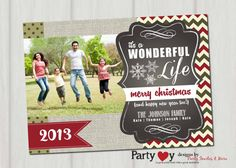 Personalized Christmas Card Christmas Card by PartyInvitesAndMore