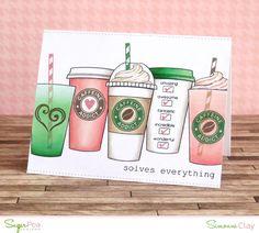 Supplies  SugarPea Designs Caffeine Addict stamp set  SugarPea Designs Classroom Cupids stamp set (heart)  SugarPea Designs Noted stamp s...