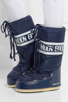 8245f5e1610 Moon Boot - Piqué-shell and faux leather snow boots