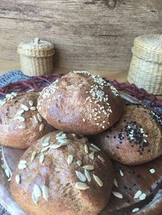 Low carb quark buns without carbohydrates with chia seeds linseed and psyllium . - Low carb quark buns without carbohydrates with chia seeds linseed and psyllium husk pumpkin seeds a - Ketogenic Recipes, Low Carb Recipes, Cooking Recipes, Low Carb Bread, Low Carb Keto, Tasty, Yummy Food, Low Carb Breakfast, Convenience Food