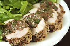 Pork peppercorn pork tenderloin