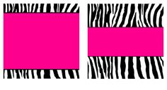 Free pink zebra birthday party food cards printables cupcake pink and zebra templates free hot pink zebra paper and business card templates by stacyo reheart Images