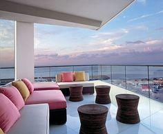 luxury decorating terrace furniture set design