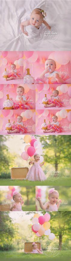 Miss O's On-Location Pink and Orange Cake Smash!