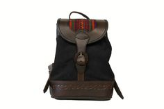 Bambina Black Suede and Leather Backpack